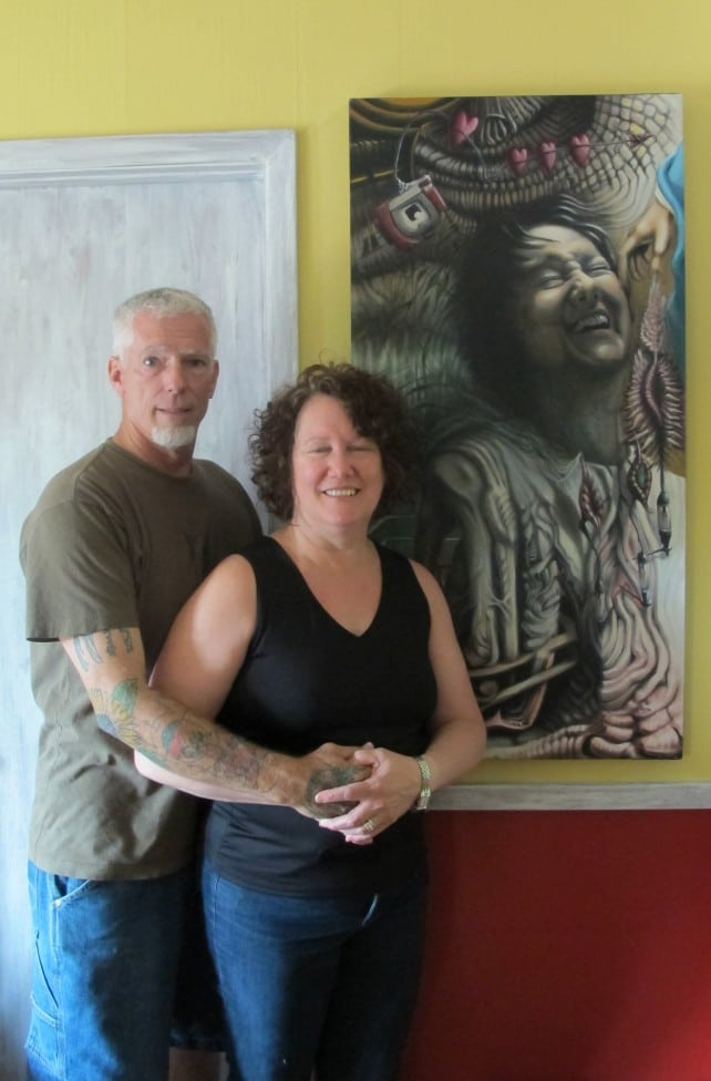 Chris Gulick with his wife Sheryl Gulick.
