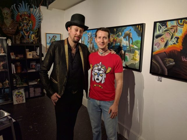 Hive Gallery owner and curator, Nathan Cartwright and Cody Seekins